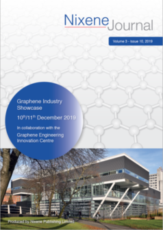 Cover of the Special Edition of the Nixene Journal for the GEIC Graphene Industry Showcase 2019