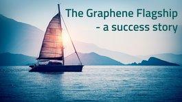 The Graphene Flagship webinar image of sailboat on a lake