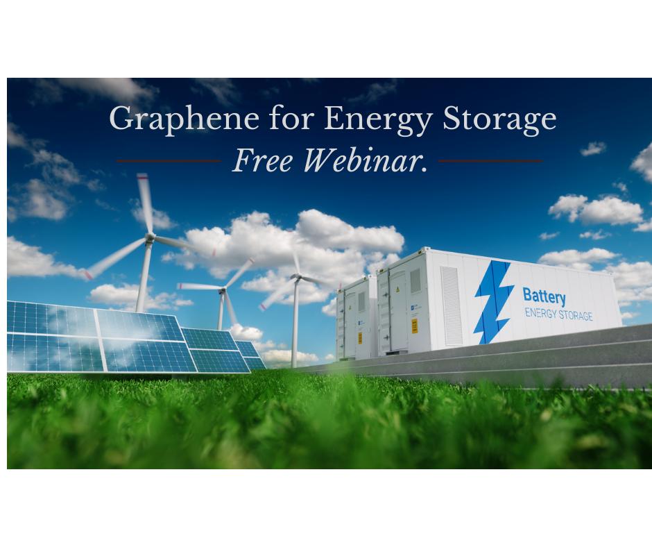 energy storage webinar depicting wind energy turbines, solar panels and batteries