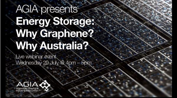 banner from Webinar Energy Storage Australian Graphene Industry Association webinar