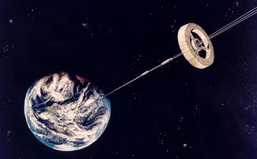 Space elevator image