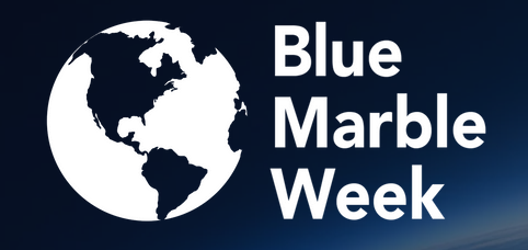 Lunar Space Elevator will be the topic of the February Blue Marble Week, logo shown hereBlue Marble Week logo